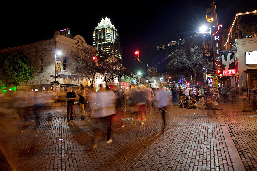 6th Street is a popular hot spot any weekday or weekend in Austin, Texas