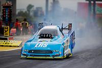 May 19, 2017; Topeka, KS, USA; NHRA funny car driver Tim Wilkerson during qualifying for the Heartland Nationals at Heartland Park Topeka. Mandatory Credit: Mark J. Rebilas-USA TODAY Sports