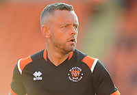 Blackpool's Jay Spearing during the pre-match warm-up <br /> <br /> Photographer Kevin Barnes/CameraSport<br /> <br /> The Carabao Cup First Round - Blackpool v Macclesfield Town - Tuesday 13th August 2019 - Bloomfield Road - Blackpool<br />  <br /> World Copyright © 2019 CameraSport. All rights reserved. 43 Linden Ave. Countesthorpe. Leicester. England. LE8 5PG - Tel: +44 (0) 116 277 4147 - admin@camerasport.com - www.camerasport.com