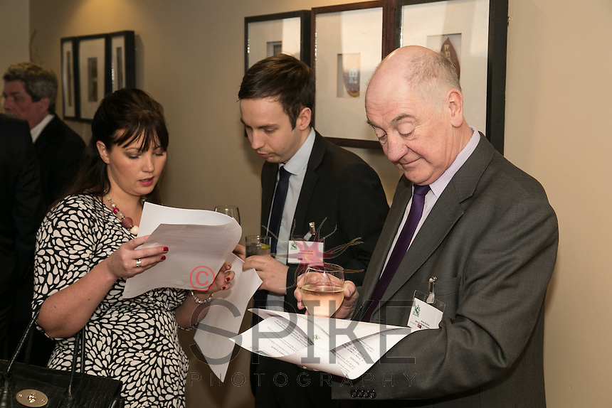 Pictured from left are Christina Yardley and Adam Cotterill of Actons and Steve Rynto of Morgan Blake Solutions