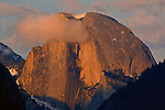 Cloud at sunset over Half Dome, Yosemite Valley, Yosemite National Park, California