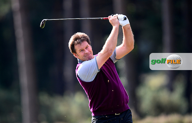 Sir Nick Faldo of England during the Second Round of The Senior Open at Sunningdale Golf Club, Sunningdale, England. Picture: Golffile | Richard Martin-Roberts<br /> All photo usage must carry mandatory copyright credit (&copy; Golffile | Richard Martin- Roberts)
