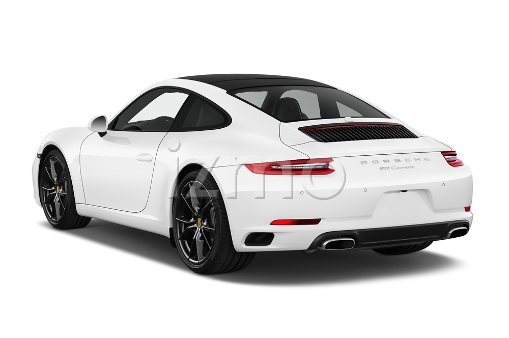 Car pictures of rear three quarter view of a 2017 Porsche 911 Carrera 2 Door Coupe angular rear