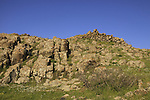Israel, Lower Galilee, rocks at Horns of Hattin