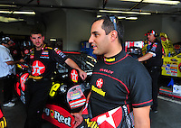 Feb 13, 2008; Daytona Beach, FL, USA; Nascar Sprint Cup Series driver Juan Pablo Montoya during practice for the Daytona 500 at Daytona International Speedway. Mandatory Credit: Mark J. Rebilas-US PRESSWIRE