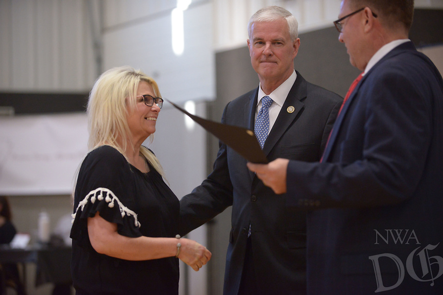 NWA Democrat-Gazette/BEN GOFF @NWABENGOFF<br /> Photos from the Benton County Adult Drug Court and Veterans Treatment Court graduation Friday, May 12, 2017, at Bentonville Church of Christ.