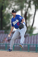 Craig Stem #47 of the Rancho Cucamonga Quakes pitches against the Inland Empire 66ers at San Manuel Stadium on August 10, 2014 in San Bernardino, California. Inland Empire defeated Rancho Cucamonga, 4-1. (Larry Goren/Four Seam Images)
