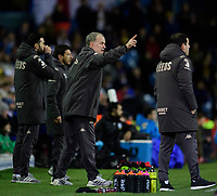 Leeds United manager Marcelo Bielsa shouts instructions to his team from the dug-out <br /> <br /> Photographer Chris Vaughan/CameraSport<br /> <br /> The EFL Sky Bet Championship - Leeds United v Sheffield Wednesday - Saturday 11th January 2020 - Elland Road - Leeds<br /> <br /> World Copyright © 2020 CameraSport. All rights reserved. 43 Linden Ave. Countesthorpe. Leicester. England. LE8 5PG - Tel: +44 (0) 116 277 4147 - admin@camerasport.com - www.camerasport.com