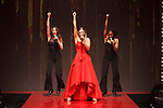 Singer Rachel Platten performs in a red dress, for the Red Dress Collection 2017 fashion show, for The American Heart Association, presented by Macy's at the Hammerstein Ballroom in New York City on February 9, 2017; during New York Fashion Week Fall 2017.