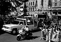 September 9 1984 File Photo - Pope John-Paul II ride the papamobile in Quebec city where he started a 12 days tour of Canada