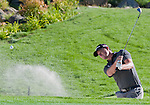 August 5, 2012: John Mallinger chips out of a bunker on the 18th hole during the final round of the 2012 Reno-Tahoe Open Golf Tournament at Montreux Golf & Country Club in Reno, Nevada.