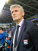 20170601 - CARDIFF , WALES : Lyon's head coach Gerard Precheur pictured during a womensoccer match between the teams of  Olympique Lyonnais and PARIS SG, during the final of the Uefa Women Champions League 2016 - 2017 at the Cardiff City Stadium , Cardiff - Wales - United Kingdom , Thursday 1  June 2017 . PHOTO SPORTPIX.BE | DAVID CATRY