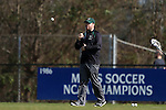 12 February 2017: CSU assistant coach Andy German. The Duke University Blue Devils hosted the Cleveland State University Vikings at Koskinen Stadium in Durham, North Carolina in a 2017 Division I College Men's Lacrosse match. Duke won the game 22-7 in overtime.