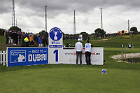 Ashley Chesters (ENG) watching the play on the 9th green form the 1st tee during Round 2 of the Open de Espana 2018 at Centro Nacional de Golf on Friday 13th April 2018.<br /> Picture:  Thos Caffrey / www.golffile.ie<br /> <br /> All photo usage must carry mandatory copyright credit (&copy; Golffile | Thos Caffrey)