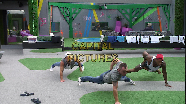 Ricci Guarnaccio, James Jordan and David McIntosh<br /> in Celebrity Big Brother - Summer 2014 (Day 10)<br /> *Editorial Use Only*<br /> CAP/NFS<br /> Image supplied by Capital Pictures