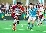 ALMERE - Hockey - Hoofdklasse competitie heren. ALMERE-HGC (0-1) .   Terrance Pieters (Almere)   met rechts Bernard Richters (HGC) . COPYRIGHT KOEN SUYK