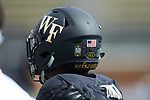 The Wake Forest Demon Deacons will wear a sticker on their helmets commemorating the 50th anniversary of BB&T Field for the 2018 season. (Brian Westerholt/Sports On Film)