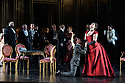 Glasgow, UK. 17.10.2017. Scottish Opera presents La Traviata, at the Theatre Royal Glasgow from October 19th, before touring to Aberdeen, Inverness and Edinburgh from November 2nd.  This production is directed by Marie Lambert (original director is Sir David McVicar), with design by Tanya McCallin and lighting design by Stephen Powles (original lighting design by Jennifer Tipton). The cast is: Gulnara Shafigullina/ Anush Hovhannisyan  (ViolettaValéry), Peter Gijsbertsen(Alfredo Germont), Stephen Gadd(Giorgio Germont), Laura Zigmantaite (Flora Bervoix), Simon Thorpe(Baron Douphol), Christopher Turner (Gastone), Alex Otterburn (Marchese D'Obigny), James Platt (Doctor Grenvil), Catherine Backhouse (Annina). Photograph © Jane Hobson.