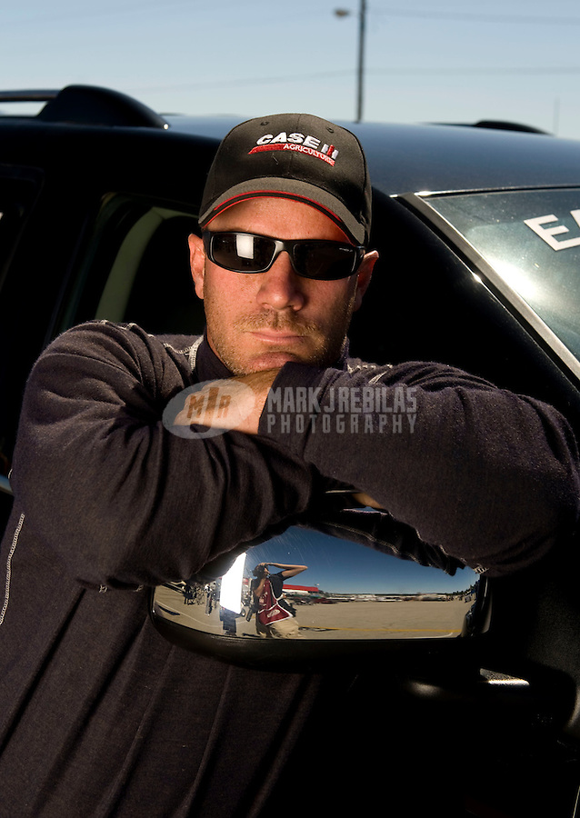 Sept. 5, 2010; Clermont, IN, USA; NHRA funny car driver Brian Thiel during qualifying for the U.S. Nationals at O'Reilly Raceway Park at Indianapolis. Mandatory Credit: Mark J. Rebilas-