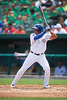 South Bend Cubs third baseman Bryant Flete (13) at bat during the first game of a doubleheader against the Peoria Chiefs on July 25, 2016 at Four Winds Field in South Bend, Indiana.  South Bend defeated Peoria 9-8.  (Mike Janes/Four Seam Images)