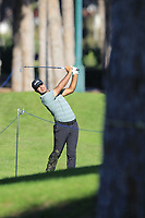 Shubhankar Sharma (IND) plays his 2nd shot on the 7th hole during Saturday's Round 3 of the 2018 Turkish Airlines Open hosted by Regnum Carya Golf &amp; Spa Resort, Antalya, Turkey. 3rd November 2018.<br /> Picture: Eoin Clarke | Golffile<br /> <br /> <br /> All photos usage must carry mandatory copyright credit (&copy; Golffile | Eoin Clarke)