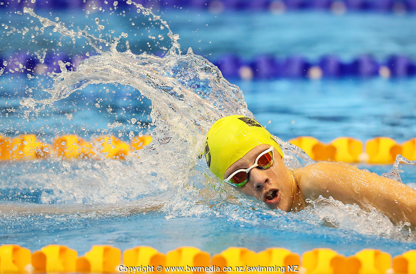 Isaac Williams, 13yr Free. Swimming New Zealand Aon National Age Group Championships, Wellington Regional Aquatic Centre, Wellington, New Zealand, Tuesday 15 2019. Photo: Simon Watts/www.bwmedia.co.nz