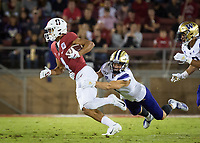 Stanford, CA - October 5, 2019: Michael Wilson at Stanford Stadium. The Stanford Cardinal beat the University of Washington Huskies 23-13.