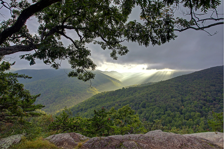 Scenic view from the Blue Ridge Parkway in Nelson County, VA. Photo/Andrew Shurtleff