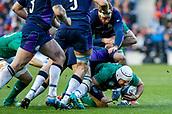9th February 2019, Murrayfield Stadium, Edinburgh, Scotland; Guinness Six Nations Rugby Championship, Scotland versus Ireland; Ireland Captain Rory Best burrows deep for every inch of ground