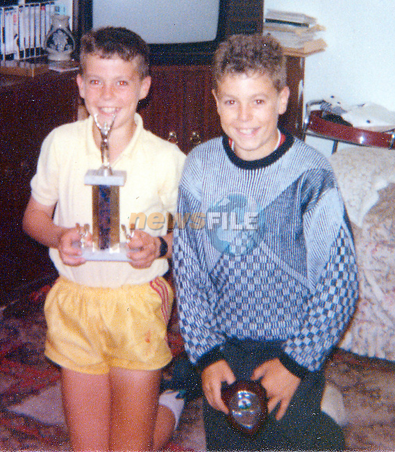 the Start of the Trophys Ian Harte on Left and Michael on Right..Picture Fran Caffrey Newsfile...This Picture is sent to you by:..Newsfile Ltd.The View, Millmount Abbey, Drogheda, Co Louth, Ireland..Tel: +353419871240.Fax: +353419871260.GSM: +353862500958.ISDN: +353419871010.email: pictures@newsfile.ie.www.newsfile.ie