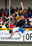 Nicky Clark flattened in mid air by Ben Gordon