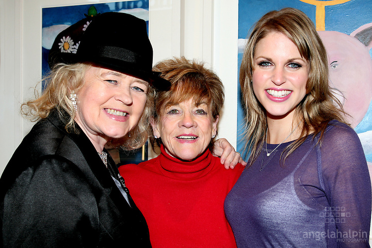 Noelle Campbell Sharpe, Anne Bushnell, Amy Huberman at the  opening Tom Campbells exhibtion, at Urban Retreat Gallery, Dublin