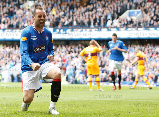 Kris Boyd celebrates his (last) goal for Rangers