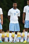 30 August 2013: North Carolina's Jordan McCrary. The University of North Carolina Tar Heels hosted the Monmouth University Hawks at Fetzer Field in Chapel Hill, NC in a 2013 NCAA Division I Men's Soccer match. UNC won the game 1-0 in two overtimes.