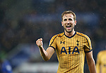 Tottenham's Harry Kane celebrates his third goal during the Premier League match at the King Power Stadium, Leicester. Picture date: May 18th, 2017. Pic credit should read: David Klein/Sportimage