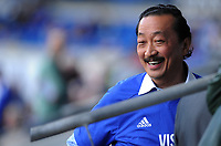 Cardiff City owner Vincent Tan prior to kick off <br /> <br /> Photographer Ashley Crowden/CameraSport<br /> <br /> The EFL Sky Bet Championship - Cardiff City v Aston Villa - Saturday August 12th 2017 - Cardiff City Stadium - Cardiff<br /> <br /> World Copyright &copy; 2017 CameraSport. All rights reserved. 43 Linden Ave. Countesthorpe. Leicester. England. LE8 5PG - Tel: +44 (0) 116 277 4147 - admin@camerasport.com - www.camerasport.com