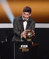 Fussball International  FIFA Ballon d Or   07.01.2013 Weltfussballer 2012  Lionel Messi (Argentinien)