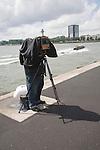Photographer using a large plate camera, Rotterdam, Netherlands