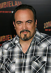"HOLLYWOOD, CA. - September 23: David Zayas arrives at the Los Angeles premiere of ""Zombieland"" at Grauman's Chinese Theatre on September 23, 2009 in Hollywood, California."