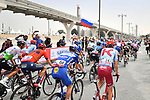 The start of Stage 4 of the 2019 UAE Tour, running 197km form The Pointe Palm Jumeirah to Hatta Dam, Dubai, United Arab Emirates. 26th February 2019.<br /> Picture: LaPresse/Massimo Paolone | Cyclefile<br /> <br /> <br /> All photos usage must carry mandatory copyright credit (© Cyclefile | LaPresse/Massimo Paolone)