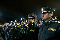 Ufficiali della Guardia di Finanza schierati in piazza Venezia, a Roma, 16 ottobre 2011, in occasione della Notte Tricolore per la celebrazione del 150esimo anniversario dell'Unita' d'Italia..Revenue Guard officers lined up in Piazza Venezia square in Rome, 16 march 2011, in occasion of the Tricolour Night marking the 150th anniversary of the Italian Union..UPDATE IMAGES PRESS/Riccardo De Luca