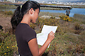 "Shorhon Gong from Aragon High School records items collected by her team during the cleanup. Volunteers in the City of Millbrae participated in California Coastal Cleanup Day on 9/19/09. Participants cleaned up inland locations throughout the city as well as at Bayfront Park on the San Francisco Bay shoreline. The inland cleanup efforts were important because, according to the California Coastal Commission, ""past Coastal Cleanup Day data tell us that most (between 60-80 percent) of the debris on our beaches and shorelines comes from inland sources, traveling through storm drains or creeks out to the beaches and ocean. Rain or even something as simple as hosing down a sidewalk can wash cigarette butts, bits of styrofoam, pesticides, and oil into the storm drains and out to the ocean."" The California Coastal Cleanup Day (http://www.coastal.ca.gov/publiced/ccd/ccd.html) is sponsored by the California Coastal Commission and is a part of the International Coastal Cleanup organized by The Ocean Conservancy."