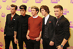 LOS ANGELES, CA - SEPTEMBER 06: Liam Payne, Louis Tomlinson, Niall Horan, Zayn Malik and Harry Styles of One Direction arrive at the 2012 MTV Video Music Awards at Staples Center on September 6, 2012 in Los Angeles, California.