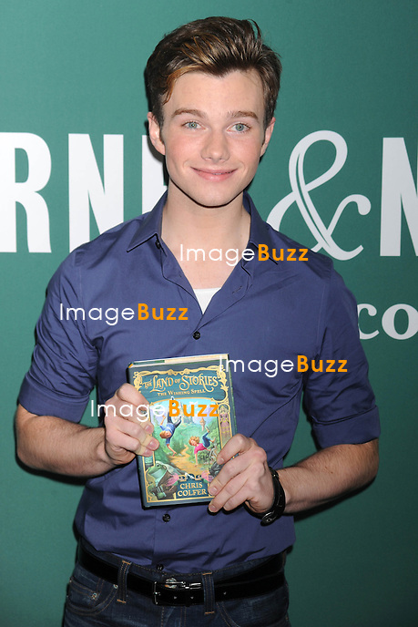 Chris Colfer promotes his new children's novel The Land Of Stories: The Wishing Spell, at Barnes & Noble. in New York City..New York, July 18, 2012.