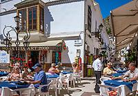Spanien, Andalusien, Provinz Málaga, Costa del Sol, Mijas: weisses Dorf, Cafes, Plaza de Jesús Nazareno | Spain, Andalusia, Province Málaga, Costa del Sol, Mijas: pueblo blanco, cafes, square Plaza de Jesús Nazareno