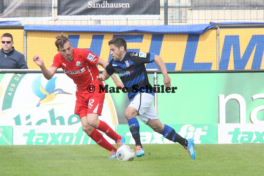 Michael Goerlitz (FSV) gegen Timo Achenbach (SVS) - FSV Frankfurt vs. SV Sandhausen, Frankfurter Volksbank Stadion