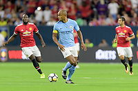 Houston, TX - Thursday July 20, 2017: Vincent Kompany during a match between Manchester United and Manchester City in the 2017 International Champions Cup at NRG Stadium.