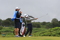 Graeme McDowell (NIR) on the 12th during the preview of the the 148th Open Championship, Portrush golf club, Portrush, Antrim, Northern Ireland. 17/07/2019.<br /> Picture Thos Caffrey / Golffile.ie<br /> <br /> All photo usage must carry mandatory copyright credit (© Golffile | Thos Caffrey)