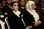 Sethrida Geagea, femme de Samir Geagea et Bahia Hariri, soeur de Rafic, au BIEL, pendant la commémoration de l'assassinat de Rafic Hariri, le 14 février 2011 - Sethrida Geagea, Samir Geagea's wife and Bahia Hariri, Rafik's sister, at the BIEL for the commemoration of Rafik Hariri's assassination, february 14 2011.