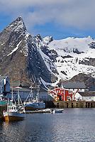 Small fishing village of Reine, Lofoten islands, Norway